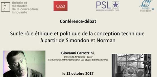 Sur le rôle éthique et politique de la conception technique à partir de Simondon et Norman