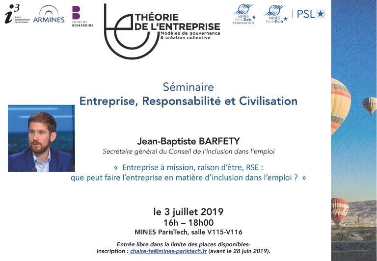 Séminaire ERC 3 juillet
