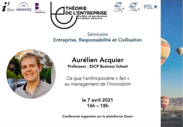 Séminaire ERC Aurélien Acquier