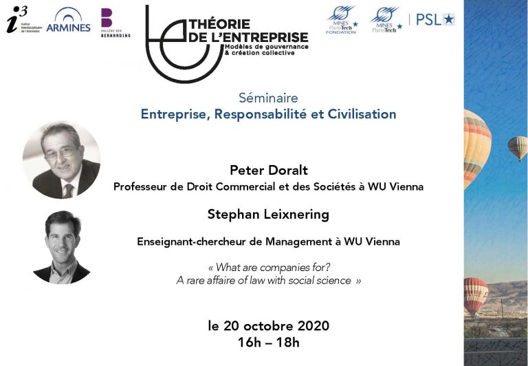 Séminaire ERC Peter Doralt and Stephan Leixnering