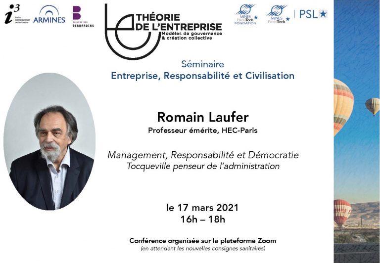Séminaire ERC Romain Laufer